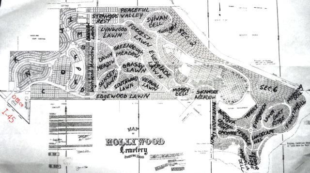 Map of the Historic Hollywood Cemetery